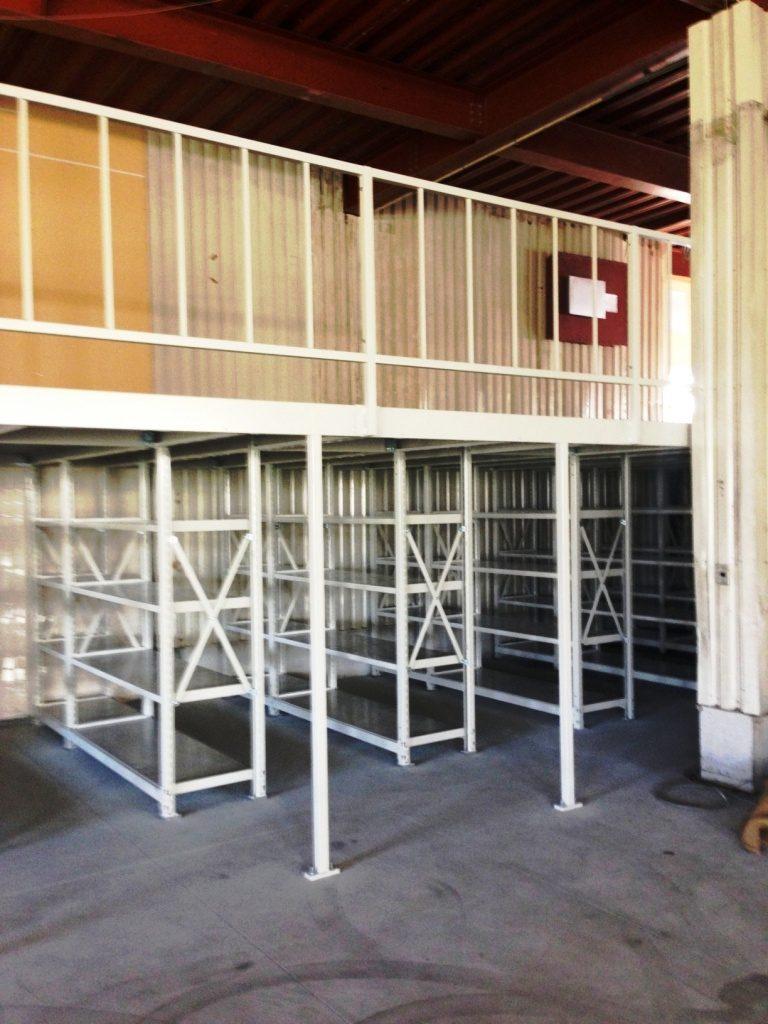 ステージラック(中量タイプ)設置工事