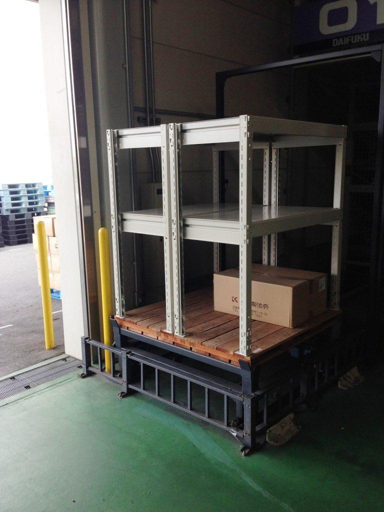 自動倉庫内 中量ラック設置工事