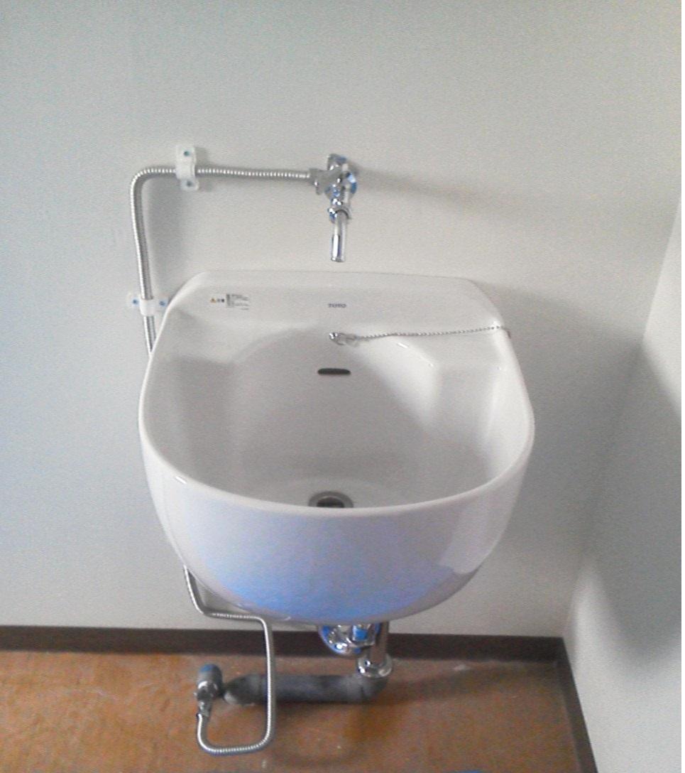 洗面台設置工事
