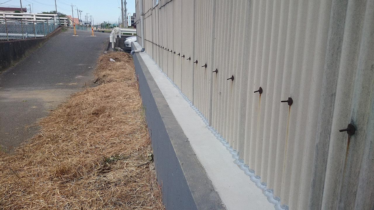 外壁モルタル埋め工事