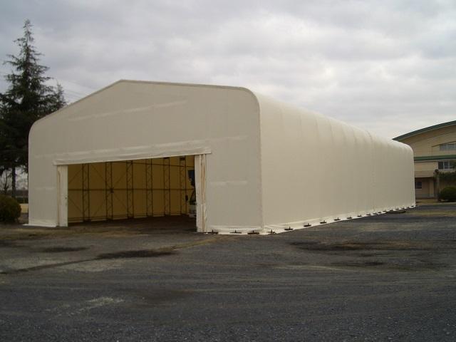 テント倉庫設置工事