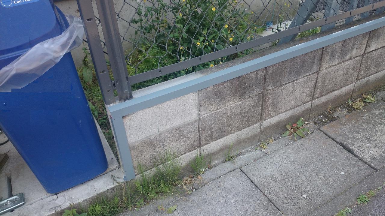 ブロック壁補修及び補強工事