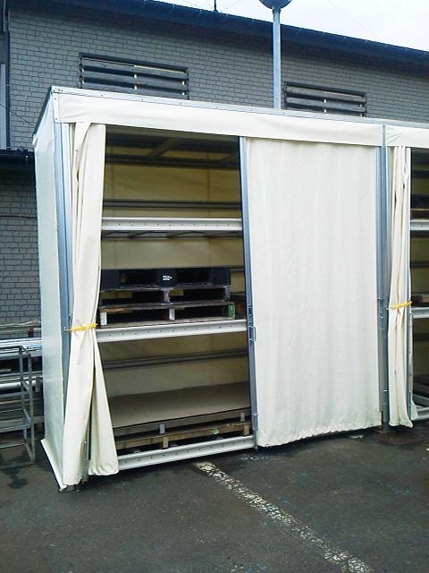 屋外用パレットラック設置工事