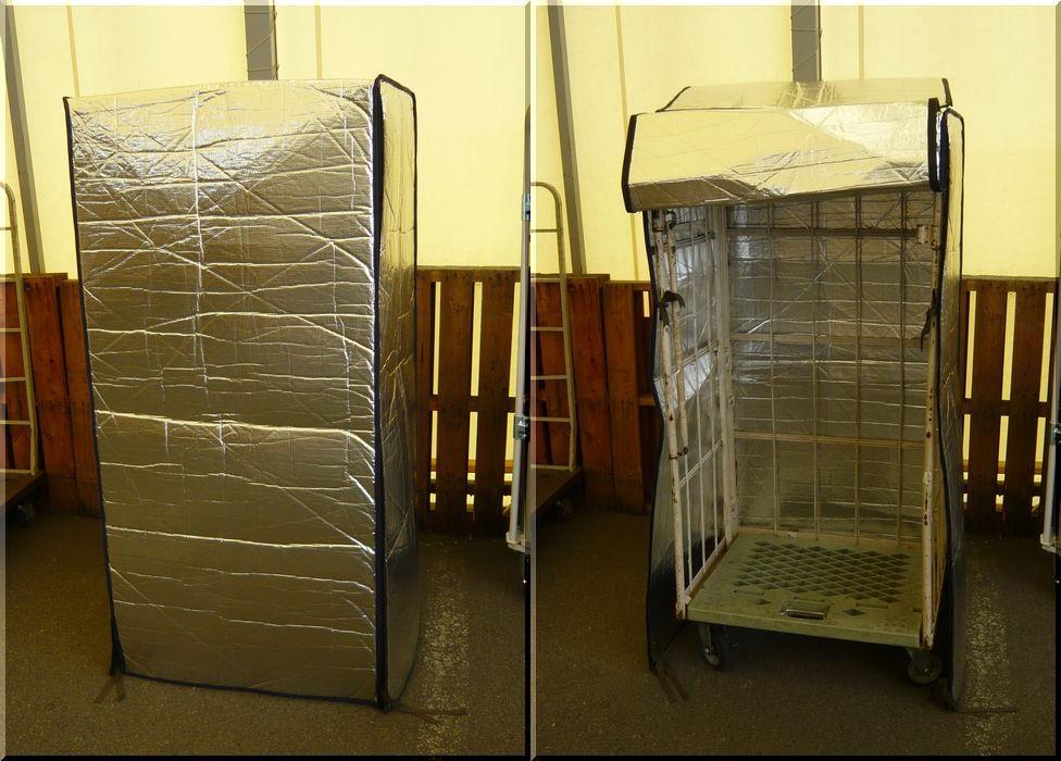 カゴ台車用保冷カバー
