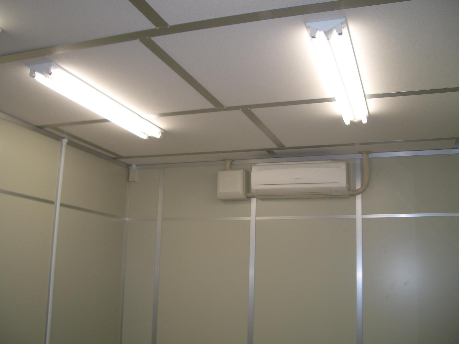 照明器具及び空調機増設工事