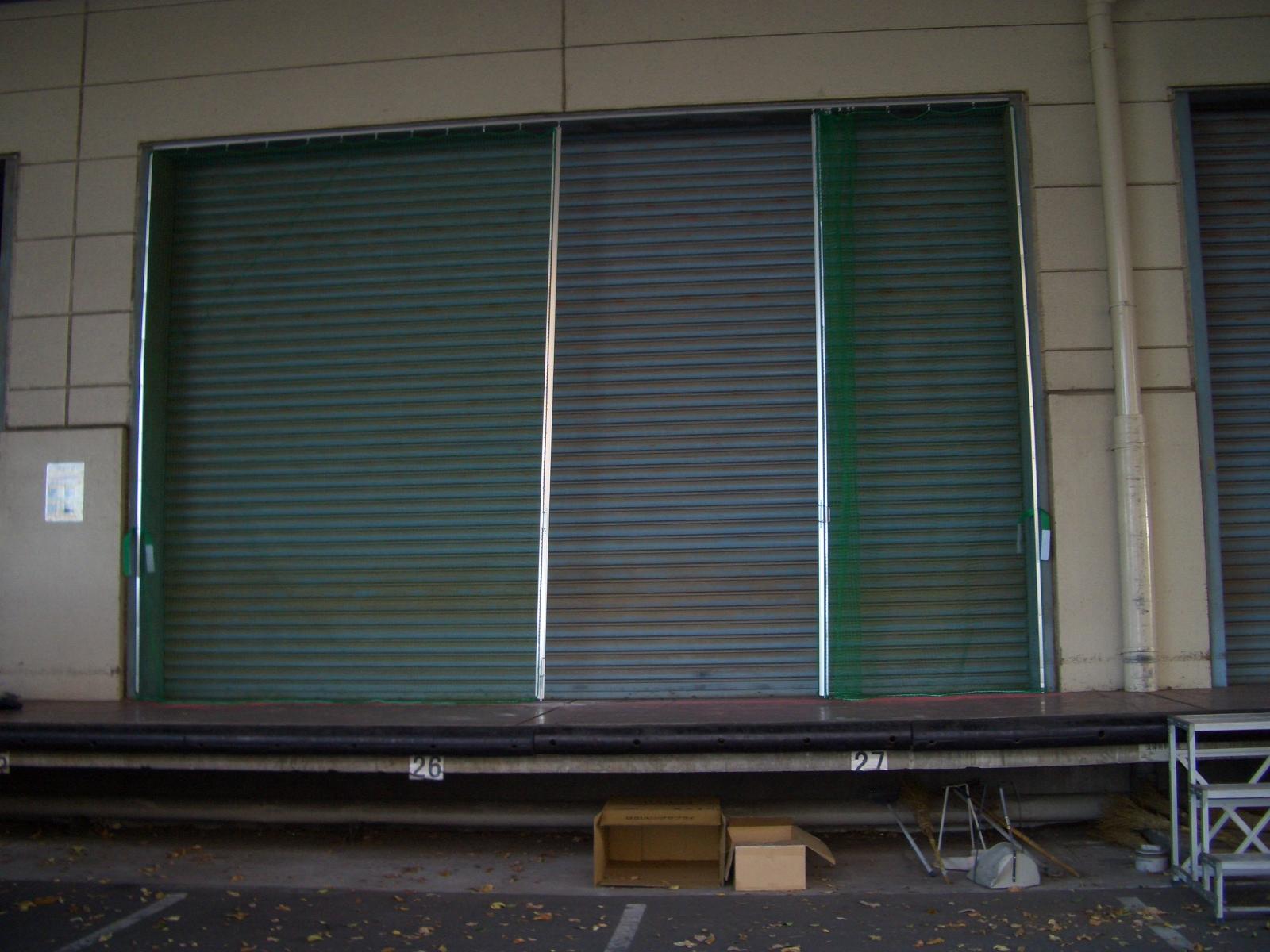 スライドカーテン(ゴルフネット仕様)設置工事