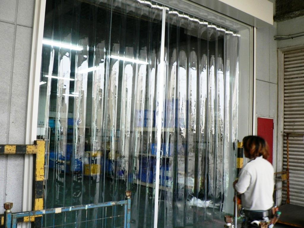 シートカーテン(折り加工仕様)新設工事