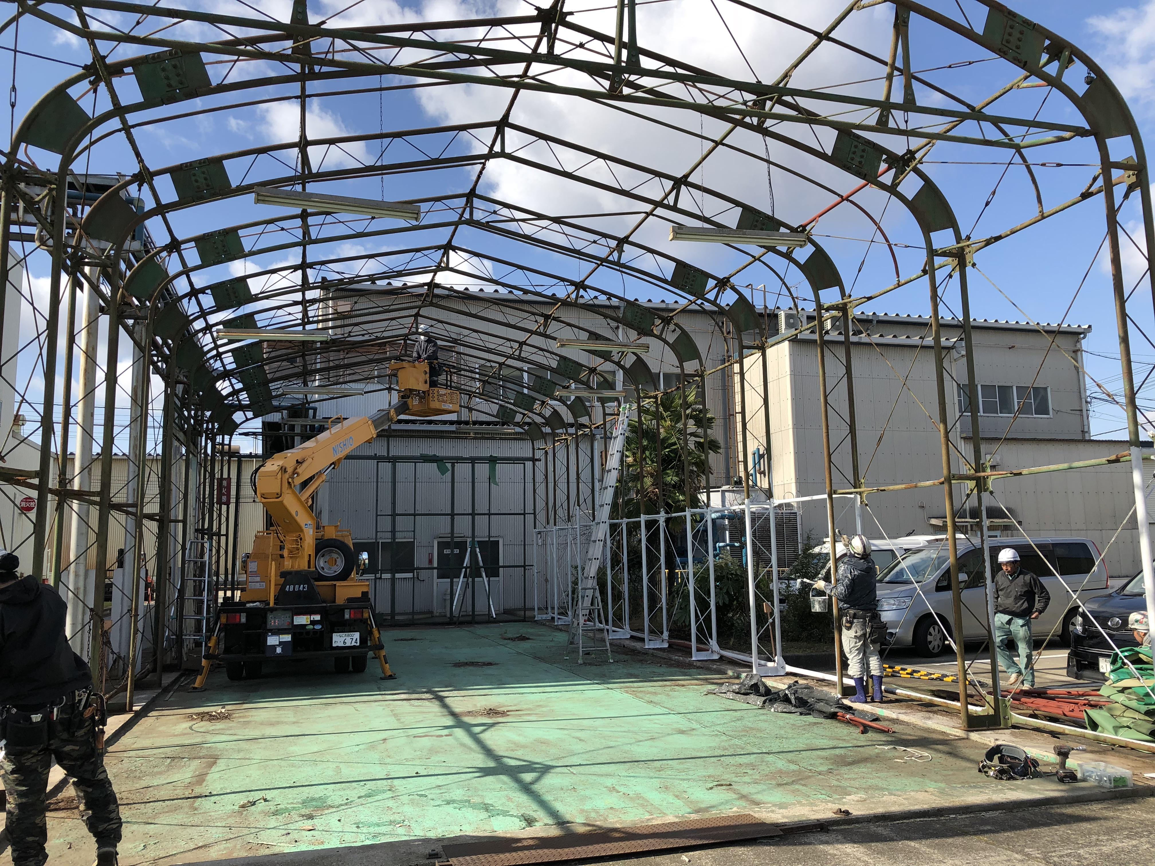 テント倉庫改修工事